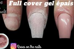 Comment-faire-un-ongle-en-gel-sur-chablons-Full-cover-gel-épais-Roses-on-the-nails