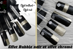 Tuto-Nail-art-Bubble-noir-et-chrome-brillant-et-mat-bubble-nails-effet-mousse-Roses-on-the-nails